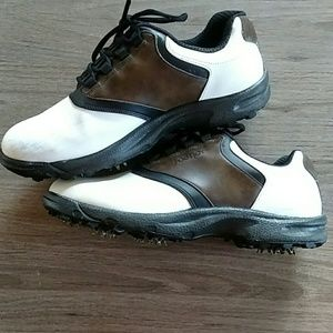 FootJoy Greenjoy White Brown Golf Shoes, size 11